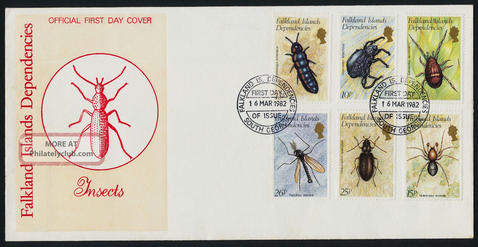 Falkland Islands Dep 1l66 - 71 Fdc - Insects British Colonies & Territories photo