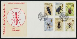 Falkland Islands Dep 1l66 - 71 Fdc - Insects photo