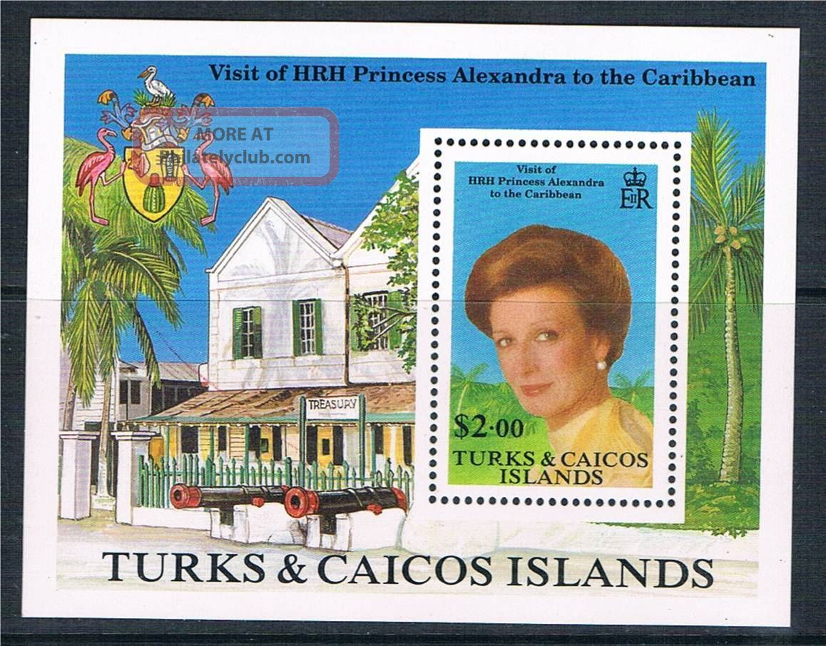 Turks & Caicos 1988 Princess Alexandra Ms Sg945 British Colonies & Territories photo