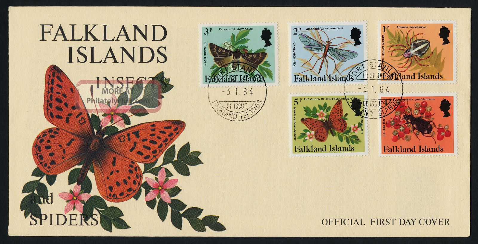 Falkland Islands 387 - 401 Fdc ' S Insects British Colonies & Territories photo
