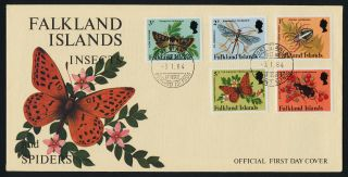 Falkland Islands 387 - 401 Fdc ' S Insects photo