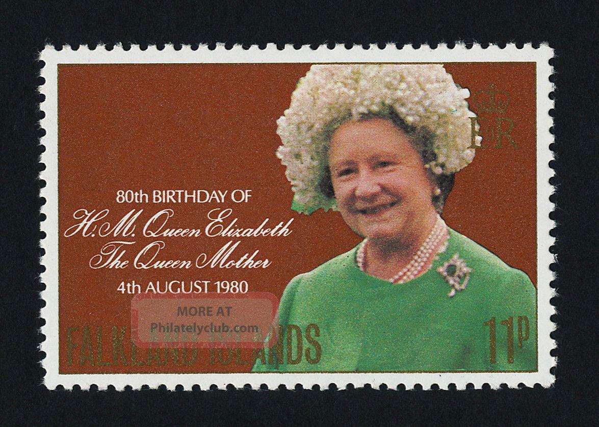 Falkland Islands 305 Queen Mother,  80th Birthday British Colonies & Territories photo