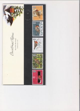 1995 Royal Mail Presentation Pack Christmas Robins photo