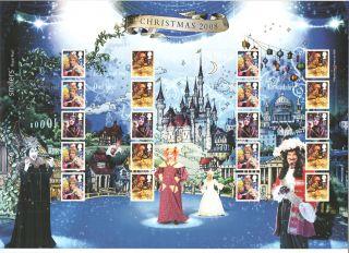 Ls54 2008 Christmas Pantomimes Royal Mail Smilers Sheet photo