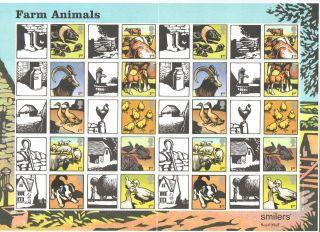 Ls22 2005 Farm Animals Royal Mail Generic Smilers Sheet photo