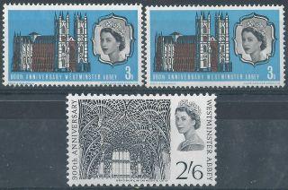 Great Britain.  Elizabeth Ii. .  1966.  & Mm.  Westminster Abbey.  (3201) photo