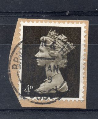 Gb = Postmark - Qe2,  `brighton & Hove / Sussex` Machine Cancel.  1969.  4d Machin. photo