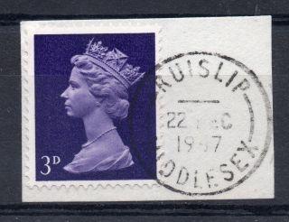 Gb = Postmark - Qe2,  `ruislip / Middlesex` Machine Cancel.  1967.  3d Machin. photo