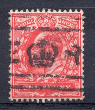 Gb = Postmark - E7,  `e Crown R` Machine Cancel On 1d Red.  (a) photo
