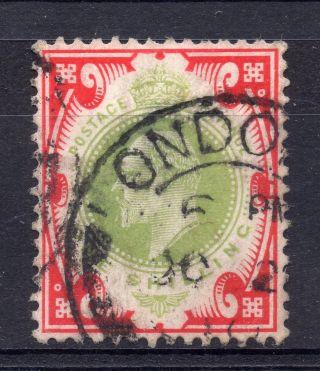 Gb = Postmark - E7,  `london E.  ` Thick Arcs On 1/ - Value.  1910. photo