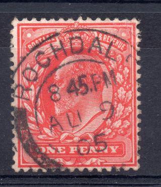 Gb = Postmark - E7,  `rochdale` Thick Arcs 1905 photo