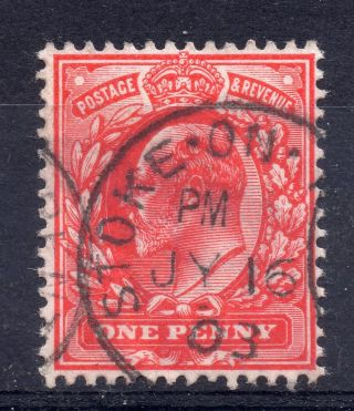 Gb = Postmark - E7,  `stoke - On - Trent` Single Ring 1903 photo