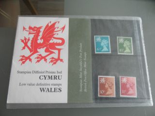 1976 Wales Regional/country Definitive Royal Mail Presentation Pack No.  86 photo