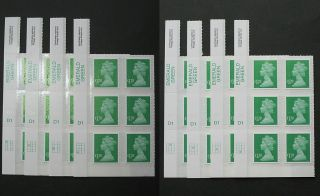 2013 De La Rue - Ma13 - £1.  28 - 2013 Sheet Cyl Block Of 6. . . . . .  Dlr photo