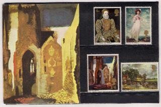Gb 1968 British Paintings Presentation Pack 1 photo