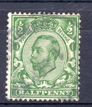 Gb = Town/village Cancel - G5 Era,  `indistinct` Violet Rubber Single Ring Sg 344 photo
