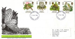 20 May 1986 Nature Conservation Royal Mail First Day Cover Kettering Fdi photo