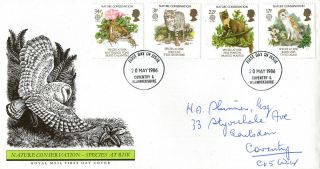 20 May 1986 Nature Conservation Royal Mail First Day Cover Coventry Fdi photo