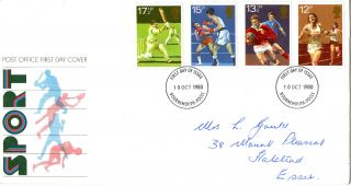 10 October 1980 Sport Centenaries Post Office First Day Cover Bournemouth Fdi photo