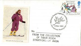 9 November 1993 Christmas First Day Cover Christmas Postcards Npm London Ec Shsa photo