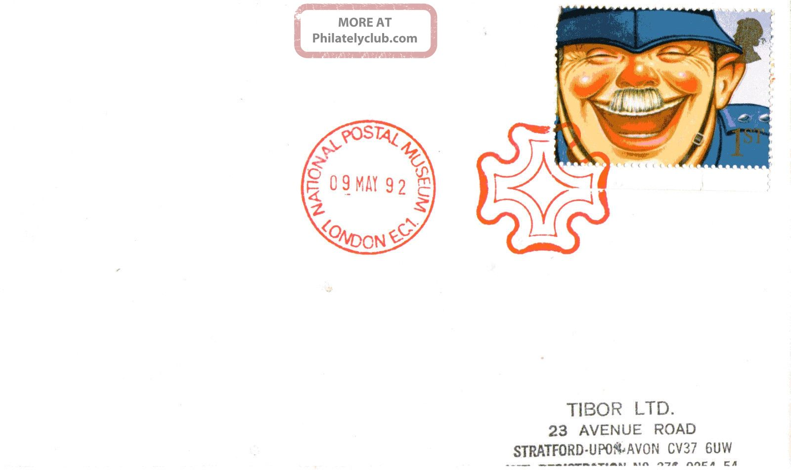 9 May 1992 Greetings Laughing Policeman Cover Npm Maltese Cross London Ec1 Shs Topical Stamps photo