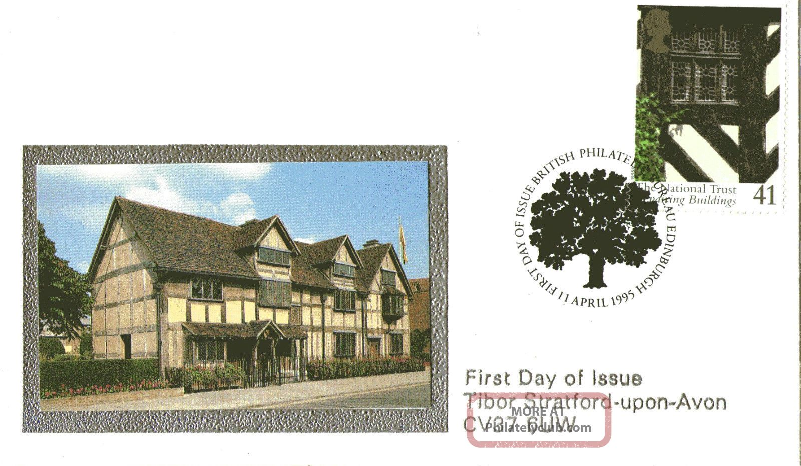 11 April 1995 National Trust Cover Bureau Shs Topical Stamps photo