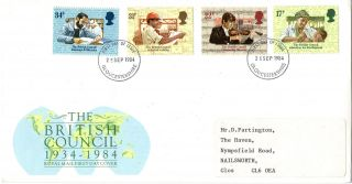 25 September 1984 British Council Royal Mail First Day Cover Gloucestershire A photo