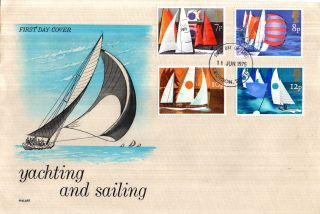 11 June 1975 Sailing Philart First Day Cover Croydon Surrey Fdi photo