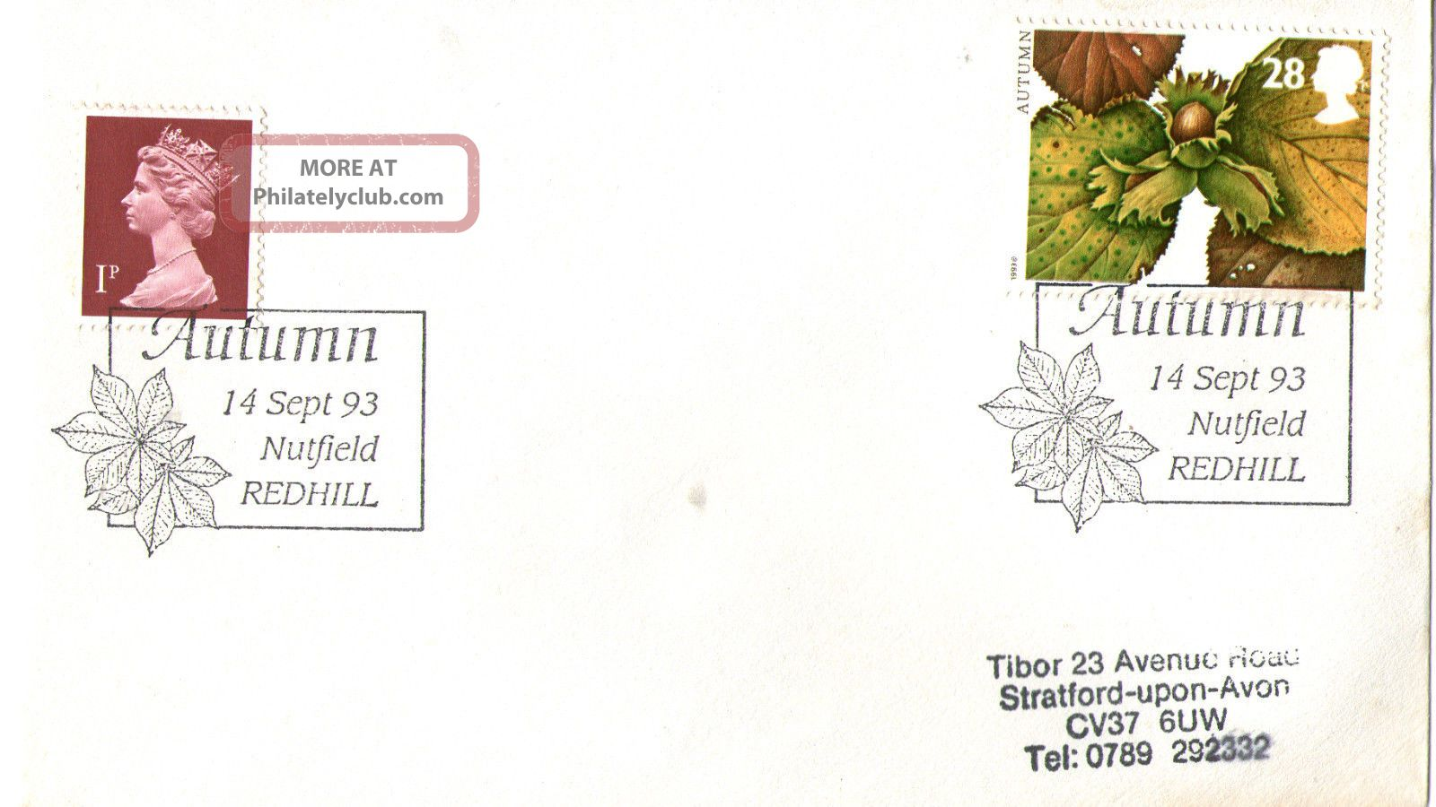 14 September 1993 Autumn First Day Cover Nutfield Redhill Shs Topical Stamps photo