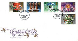 16 November 1983 Christmas Royal Mail First Day Cover Taunton Fdi photo