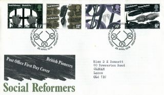 28 April 1976 Social Reform Post Office First Day Cover Bureau Shs photo