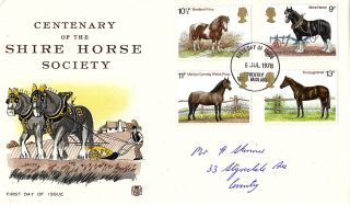 5 July 1978 Shire Horses Stuart First Day Cover Coventry Fdi photo