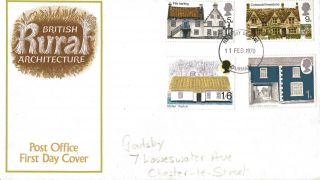 11 February 1970 Rural Architecture Post Office First Day Cover Durham Fdi photo