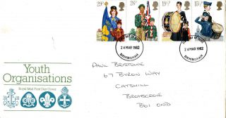 24 March 1982 Youth Organisations Royal Mail First Day Cover Birmingham Fdi photo