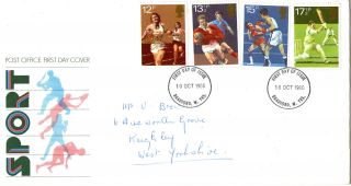10 October 1980 Sport Centenaries Post Office First Day Cover Bradford Fdi photo