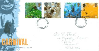 25 August 1998 Carnival Royal Mail First Day Cover Taunton Fdi (a) photo