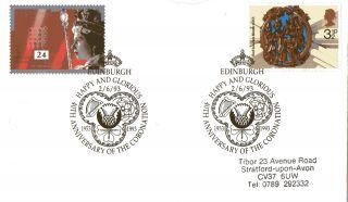 2 June 1993 40th Anniversary Of The Coronation Cover Edinburgh Shs (a) photo