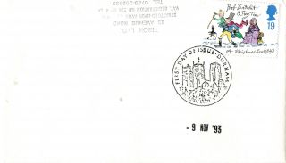 9 November 1993 Christmas First Day Cover Durham Shs (a) photo