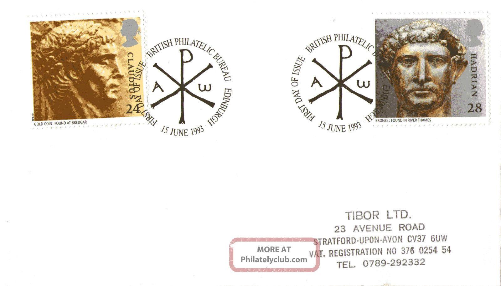 15 June 1993 Roman Britain Cover Bureau Shs (b) Topical Stamps photo