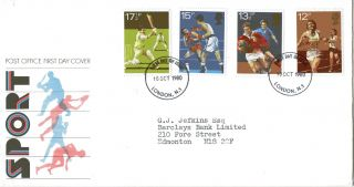 10 October 1980 Sport Centenaries Post Office First Day Cover London N1 Fdi photo
