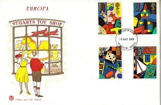16 May 1989 Toys And Games Stuart First Day Cover Windsor Fdi photo