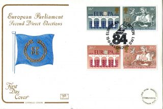 15 May 1984 Europa Cotswold First Day Cover European Election 84 Shs photo