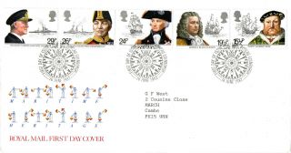 16 June 1982 Maritime Heritage Royal Mail First Day Cover Bureau Shs photo