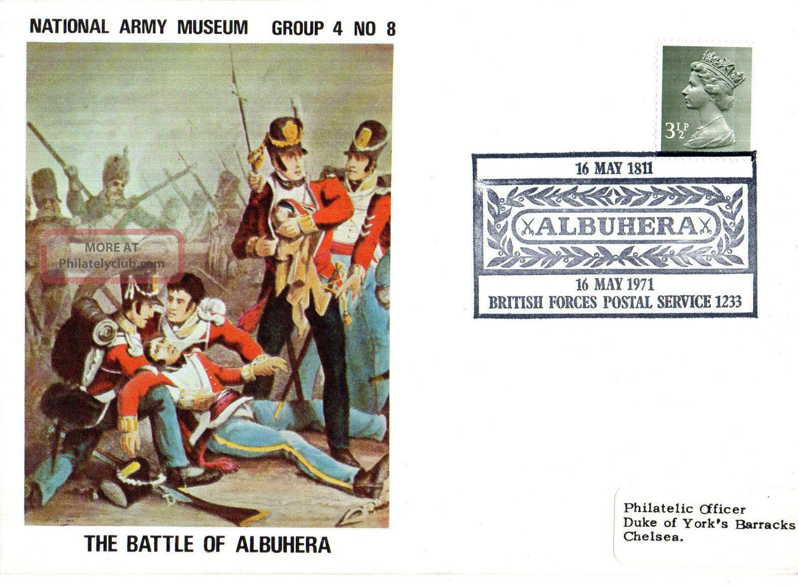 1971 Battle Of Albuhera 4/8 Army Museum Commemorative Cover Shs Topical Stamps photo
