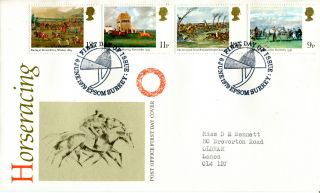6 June 1979 Horseracing Post Office First Day Cover Epsom Surrey Shs (w) photo
