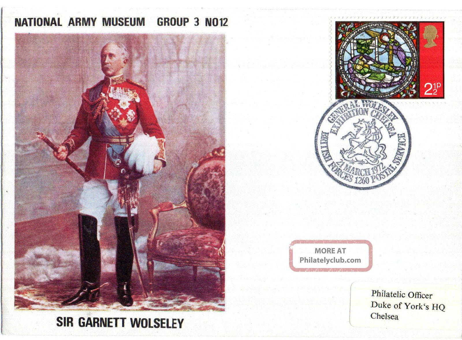 1972 Sir Garnett Wolseley 3/12 Army Museum Commemorative Cover Shs Topical Stamps photo