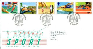 15 July 1986 Commonwealth Games Royal Mail First Day Cover Edinburgh Shs (w) photo