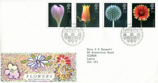 20 January 1987 Flowers Royal Mail First Day Cover Kew Richmond Shs (w) photo