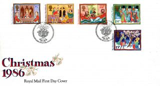 18 November 1986 Christmas Royal Mail First Day Cover Bethlehem Shs (u) photo