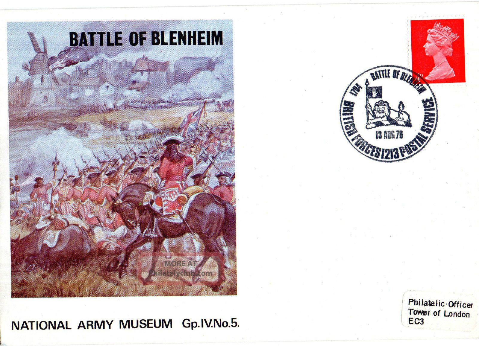 1970 Battle Of Blenheim Iv/5 Army Museum Commemorative Cover Shs Topical Stamps photo